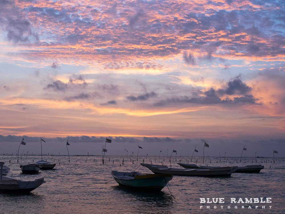 Clouds at sunset on Nusa Lembongan