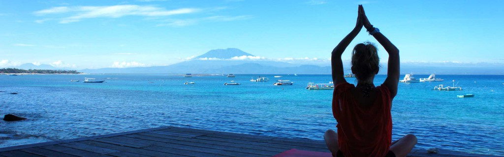 Daily yoga classes on Lembongan