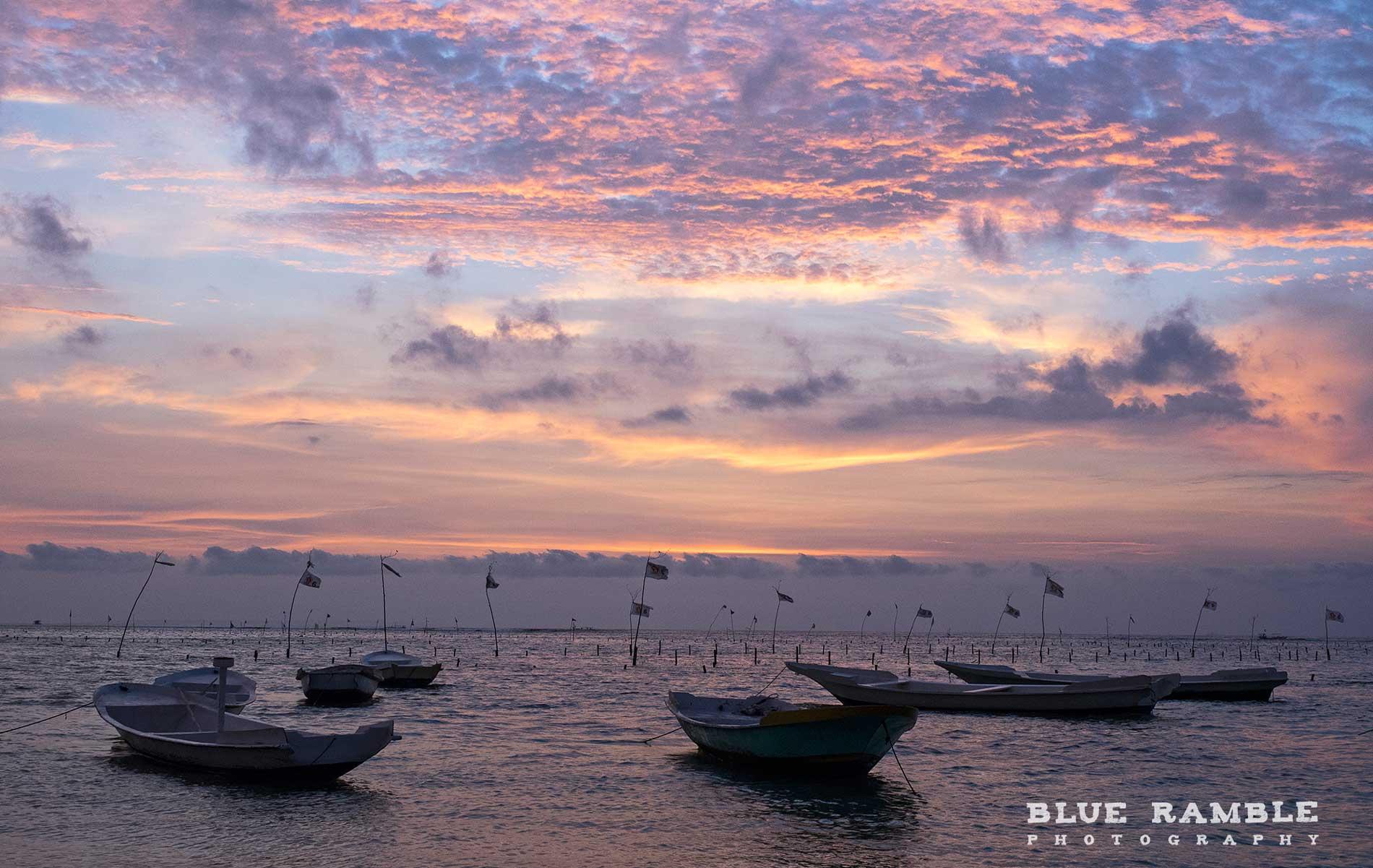 Clouds at sun set on Nusa Lembongan