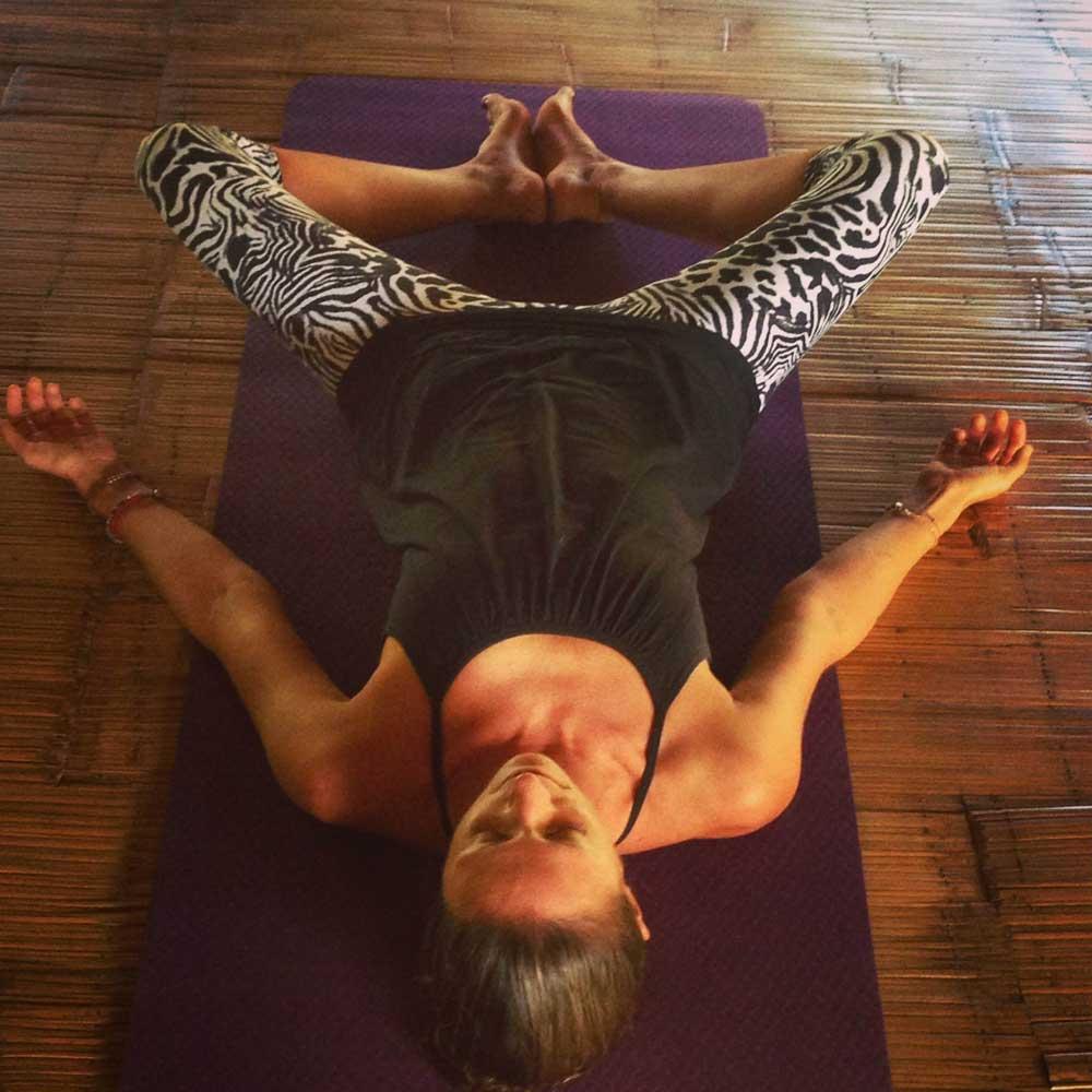 Yin yoga position