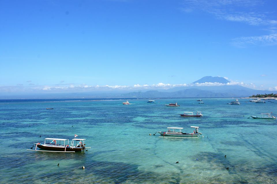 Island view of Lembongan