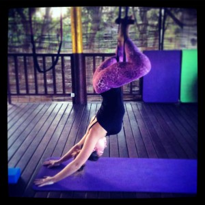 Flying high yoga