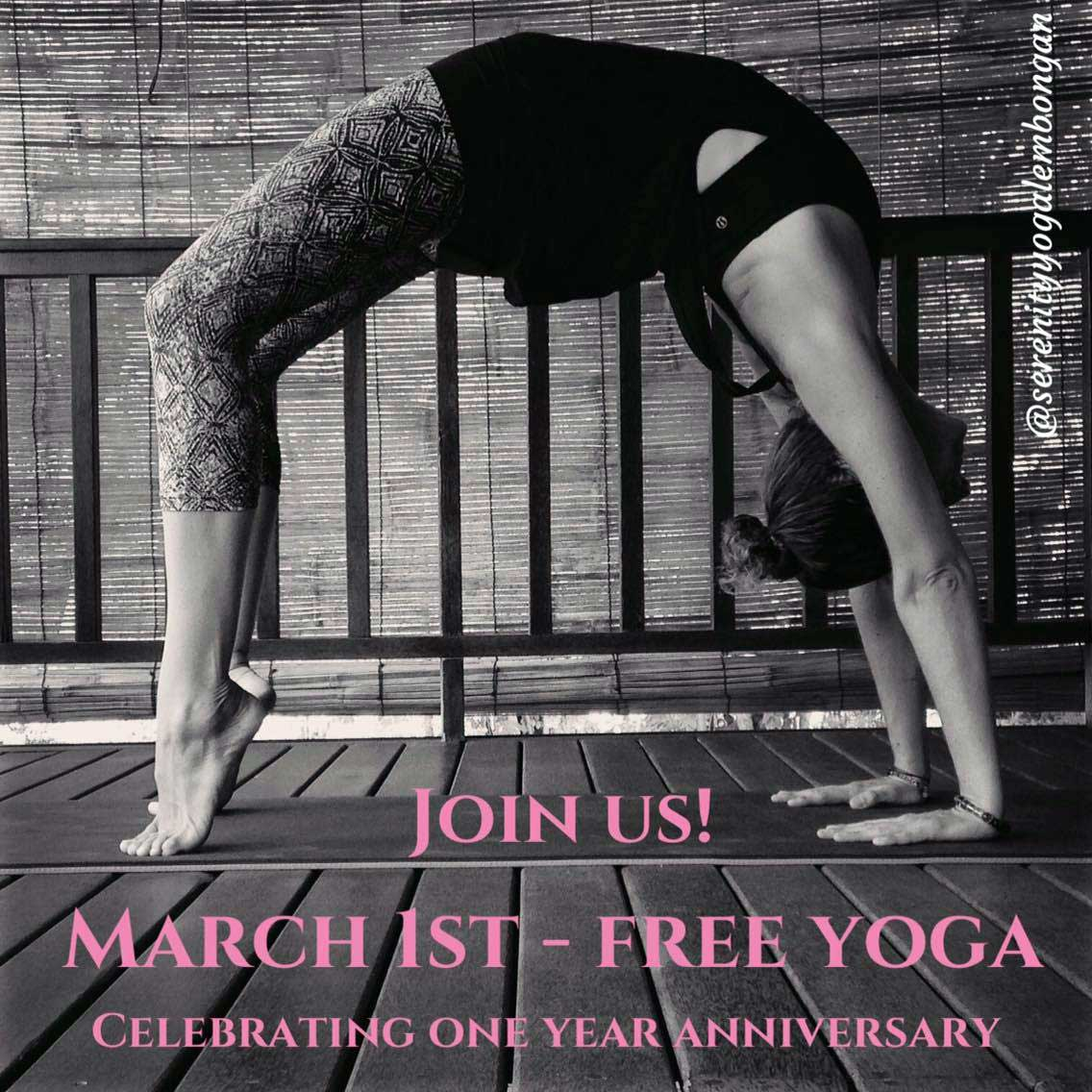 Join us for free yoga