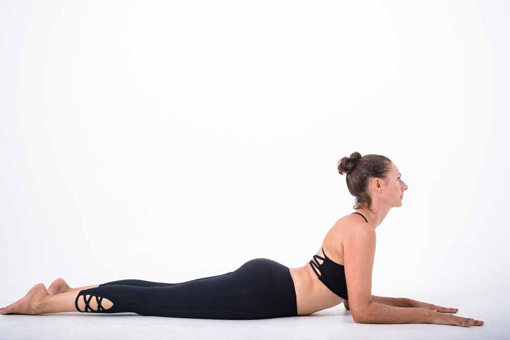 Yin Yoga the Sphinx pose