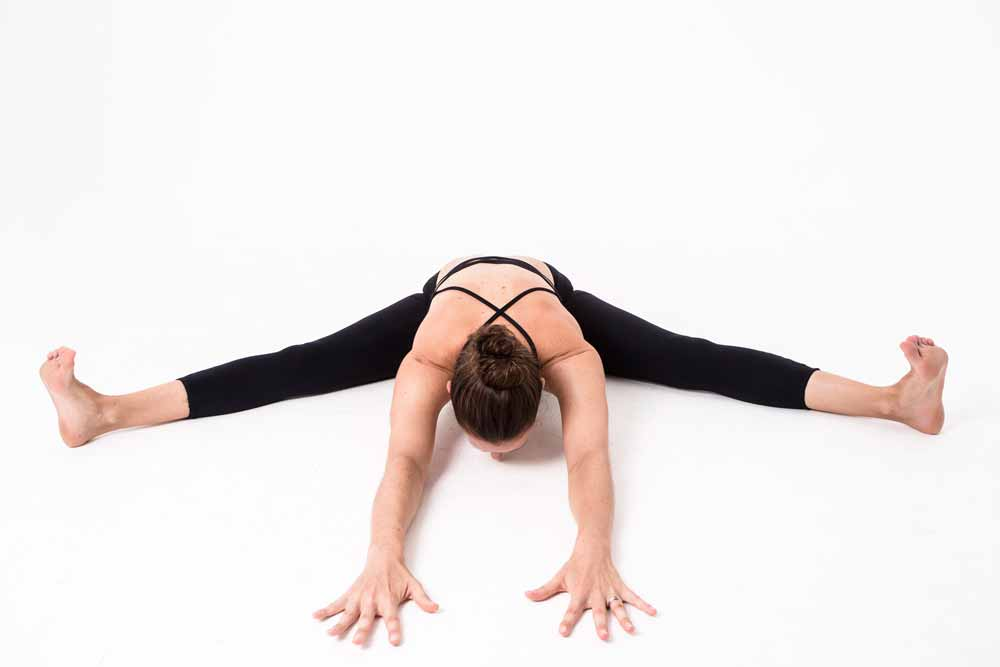 Yin Yoga wide legged seated pose