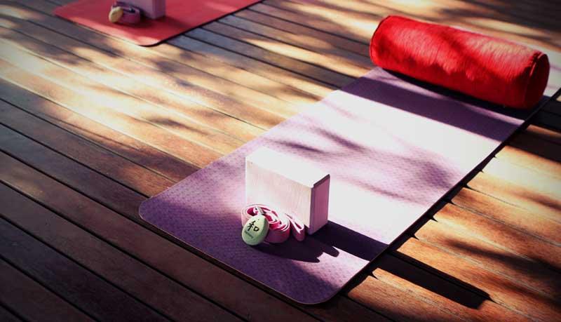 Yoga classroom mat